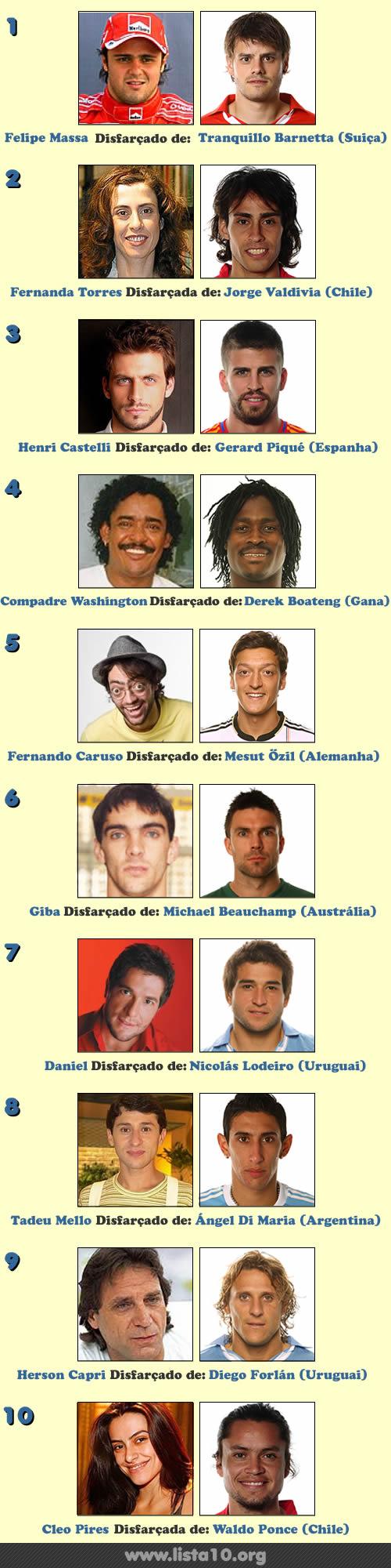 10 Celebridades que estão jogando na copa do mundo 2010 e você nem sabia