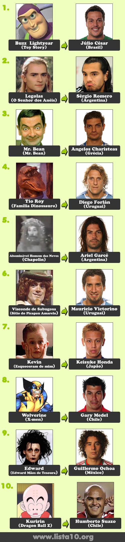 10 Personagens da ficção que foram para a Copa do Mundo 2010 e você nem sabia