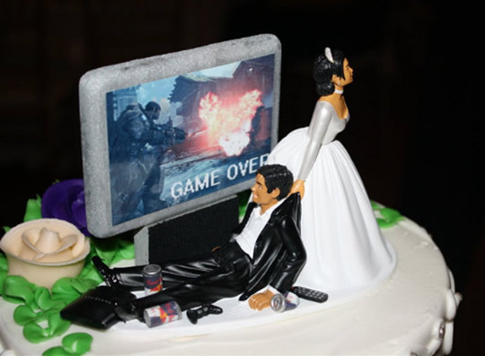 10 geniais e inusitados bolos de casamento