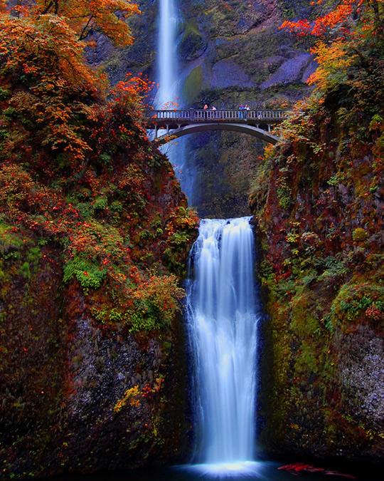 Cachoeira multnomah falls , oregon , eua