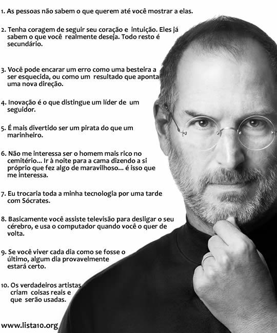 10 frases memoráveis de Steve Jobs