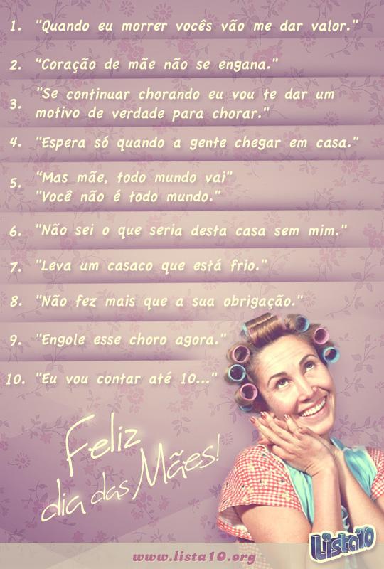 10 Coisas Que Toda Mãe Sempre Diz