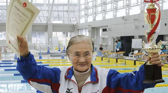 nadadora mais velha do mundo