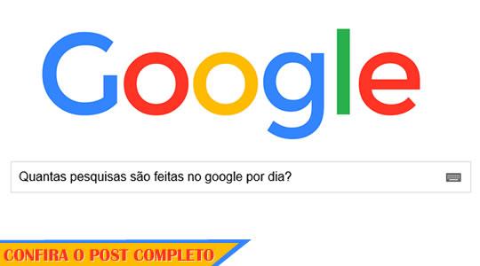 quantas pesquisas são feitas no google