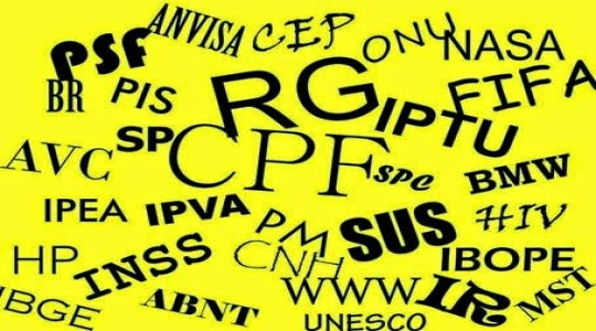 10 acrônimos que você já conhece